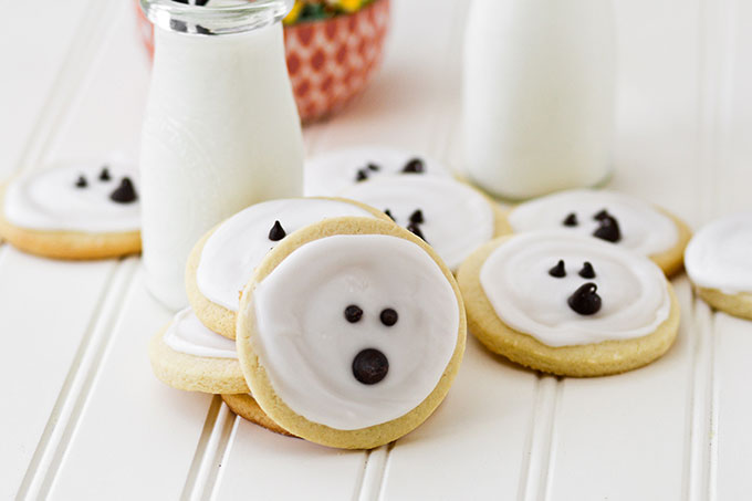 Simple Ghost Sugar Cookies