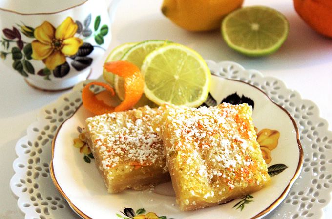 Triple Citrus Bars