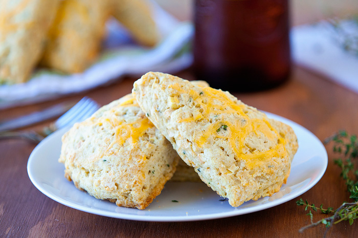 Apple Thyme Cheddar Scones