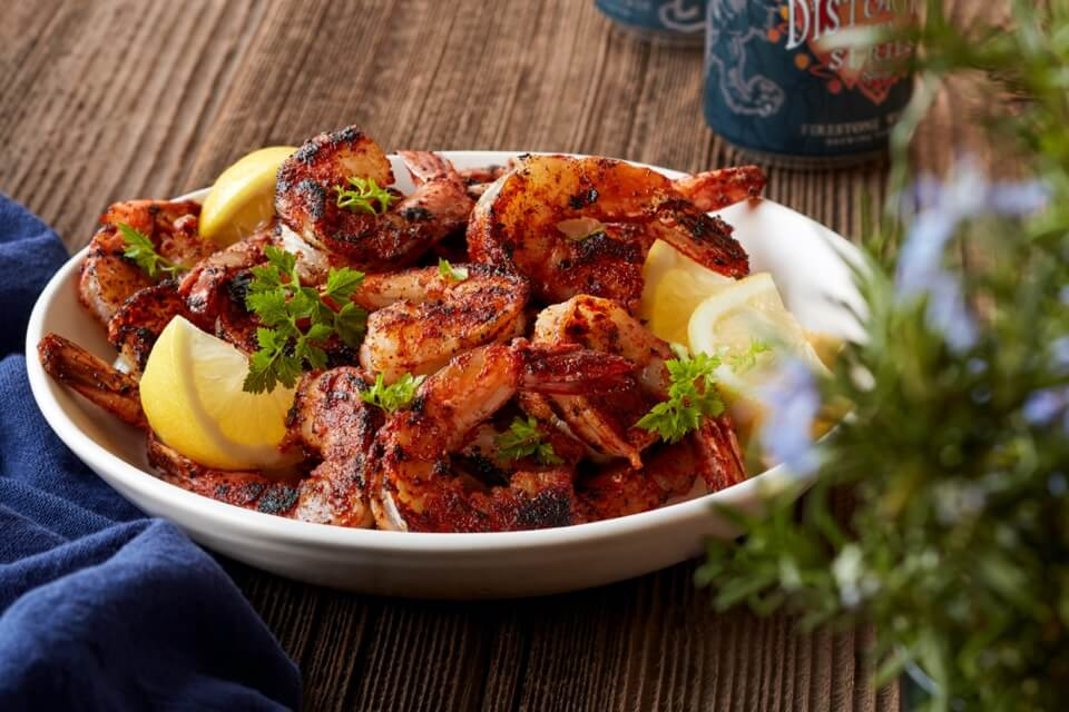 Blackened BBQ Grilled Shrimp