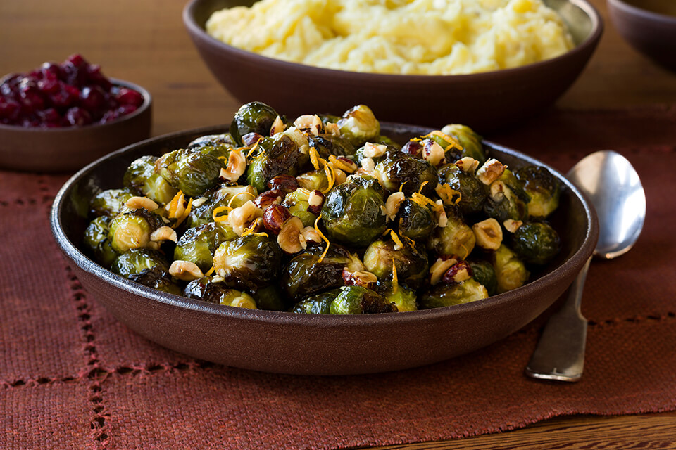 Brussels Sprouts with Brown Butter & Hazelnuts