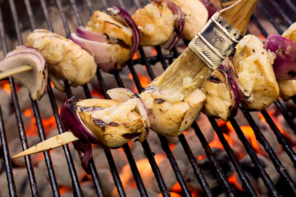 Buttery Lemon-Pepper Kabobs