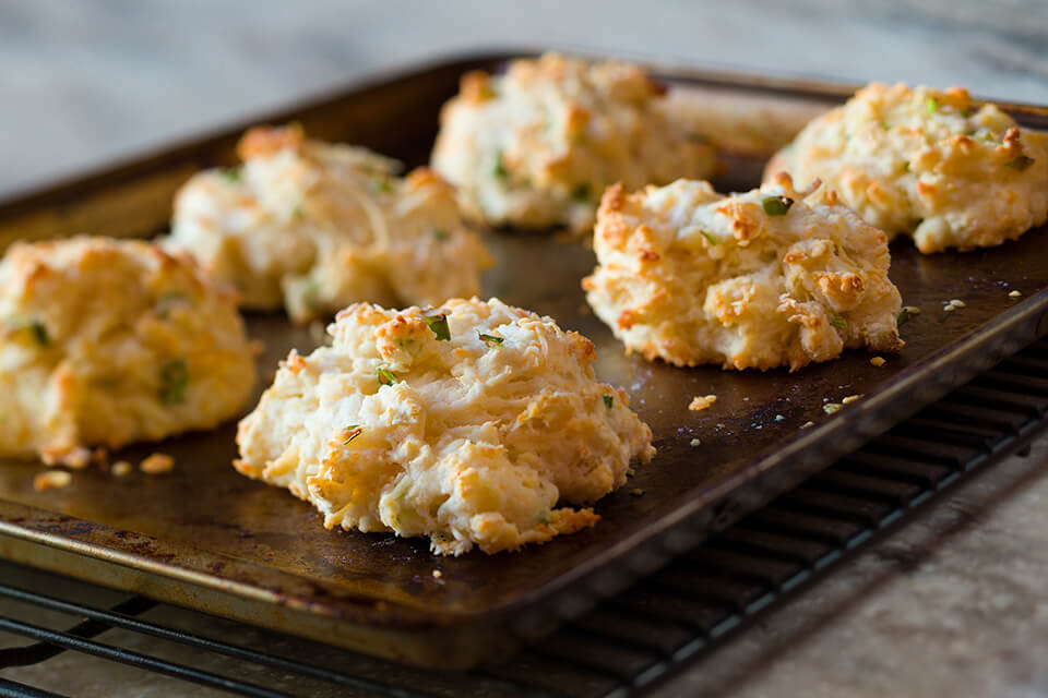 Cheese and Green Onion Biscuits