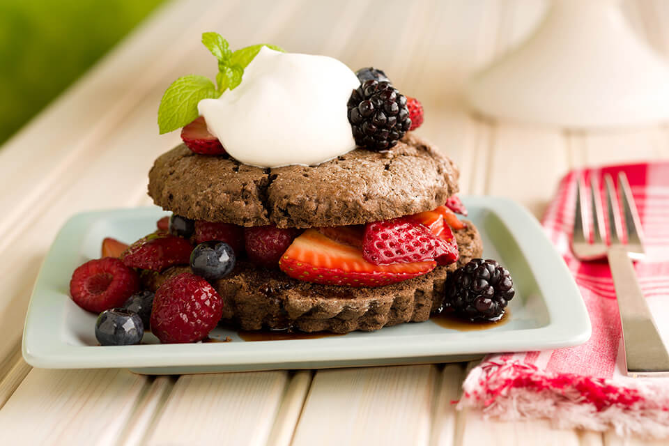 Chocolate Shortcake with Mixed Berries