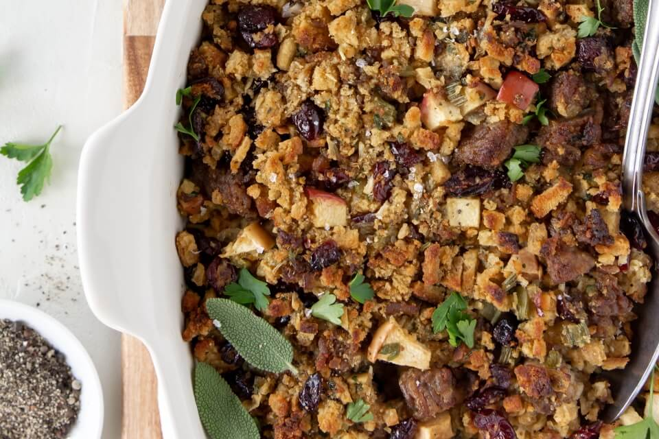 Herbed Sausage and Cranberry Stuffing