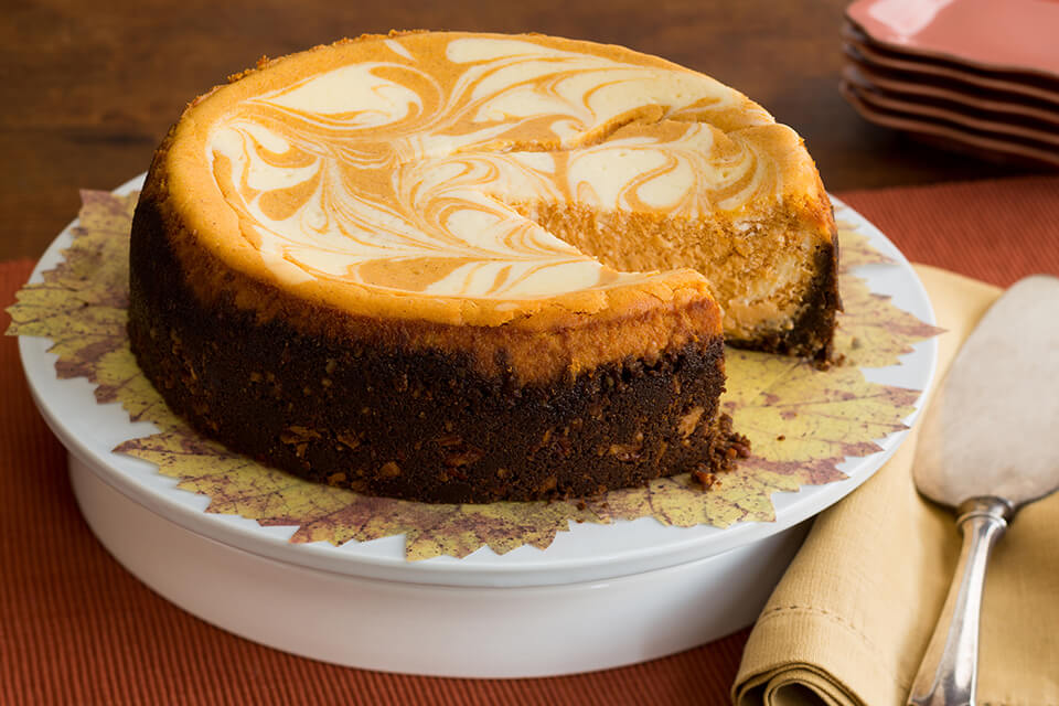 Pumpkin Marbled Cheesecake