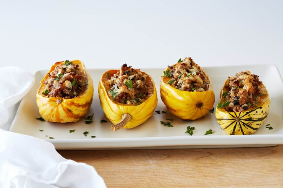 Sausage and Mushroom Stuffed Squash
