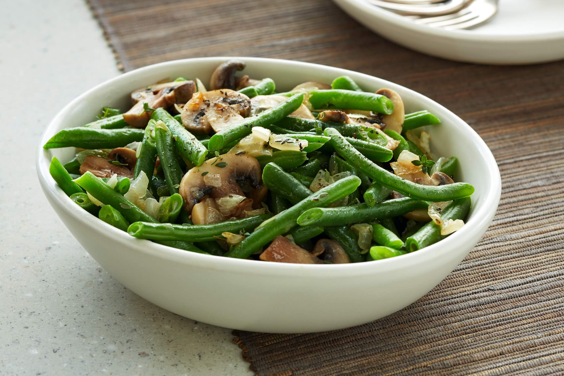 Savory Green Beans and Mushrooms