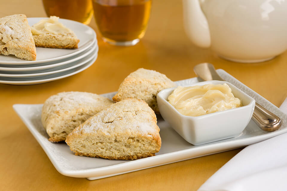 Scottish Scones with Honey Butter