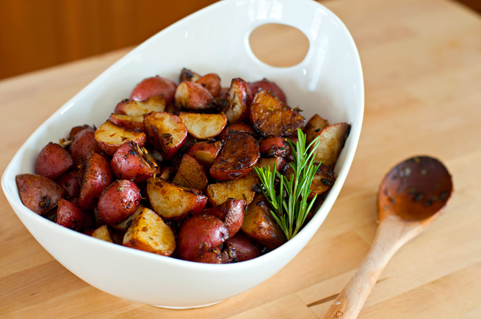 Balsamic and Herb Roasted New Potatoes