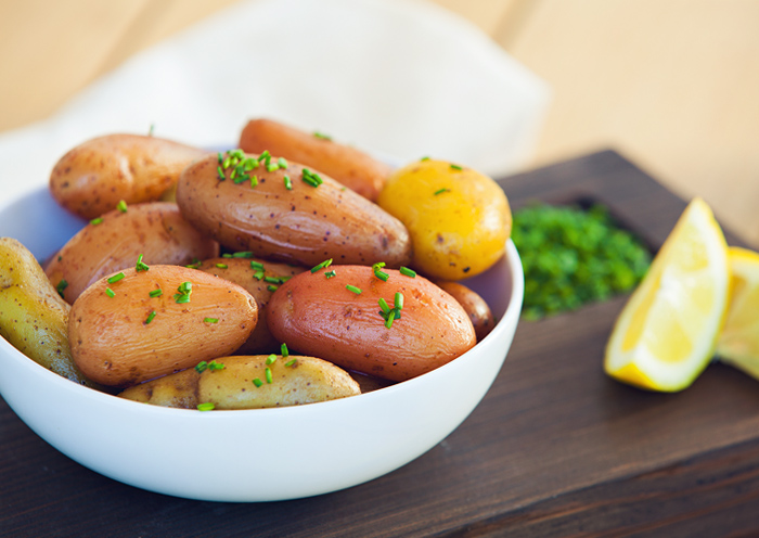 Braised Fingerling Potatoes in Browned Butter