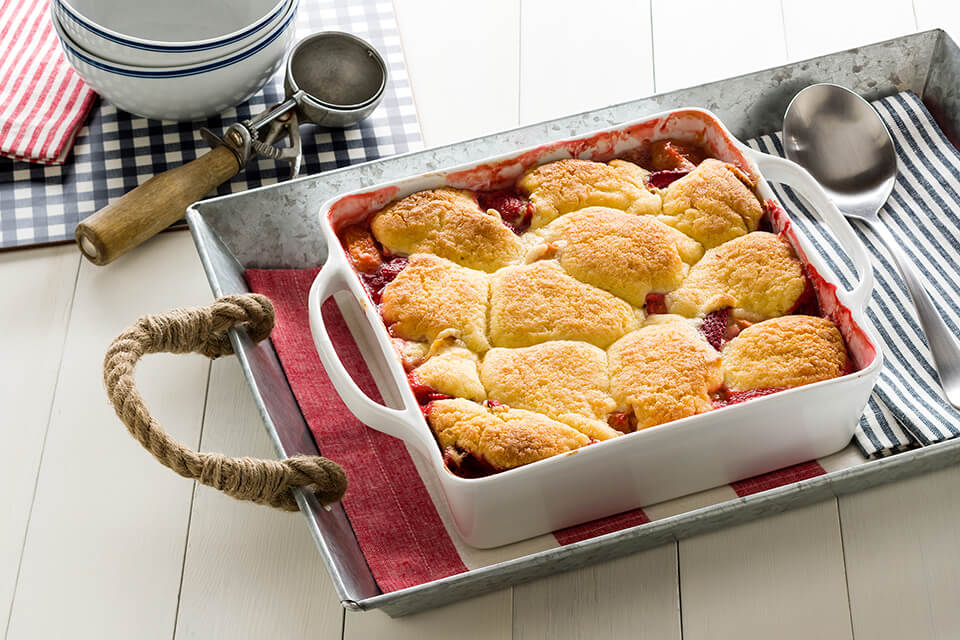 Buttery Crusted Peach and Berry Cobbler