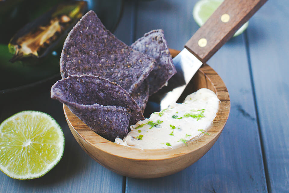 Charred Jalapeño with Lime Cream Cheese Spread