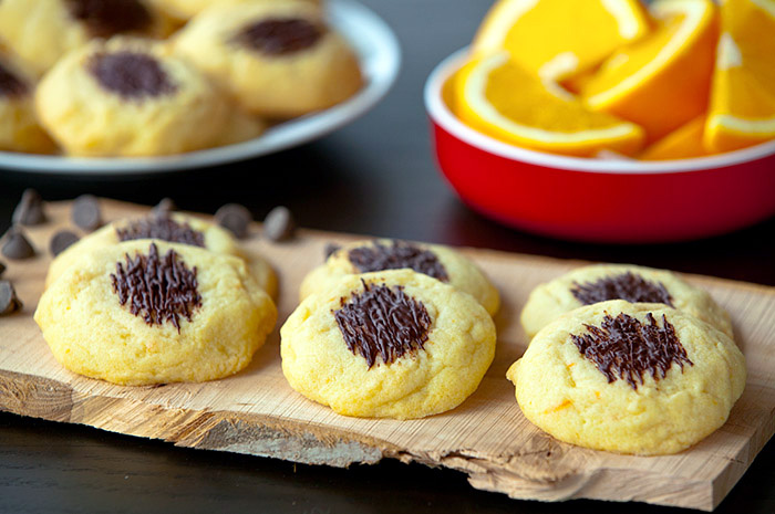 Chocolate Topped Orange Morsels
