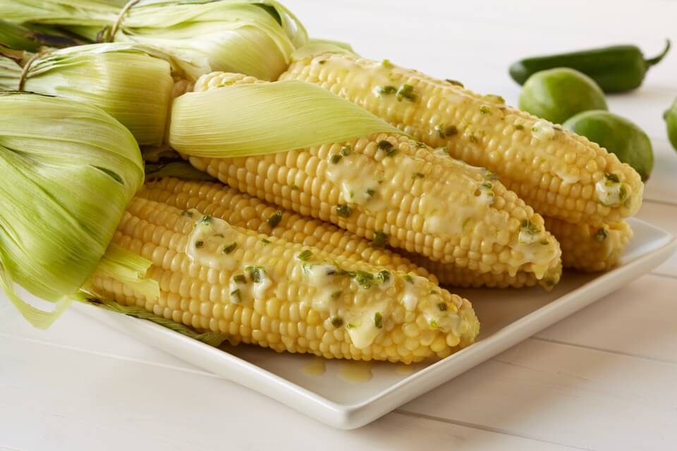Corn with Jalapeño Lime Butter