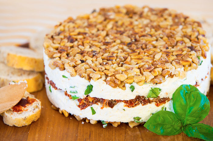 Cream Cheese and Sun-dried Tomato Torte