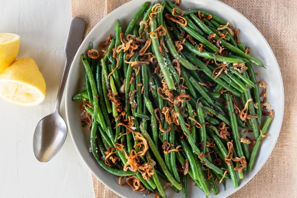 Green Beans with Brown Butter and Shallots