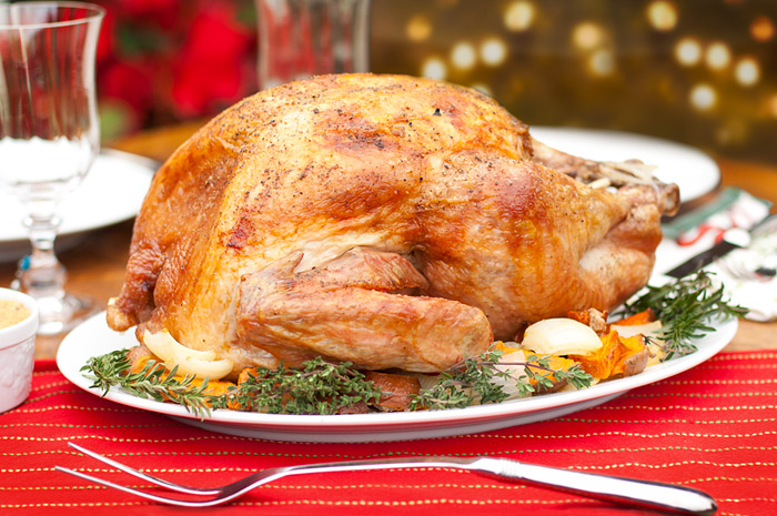 Roasted Turkey with Smoked Paprika and Fennel Seed Butter